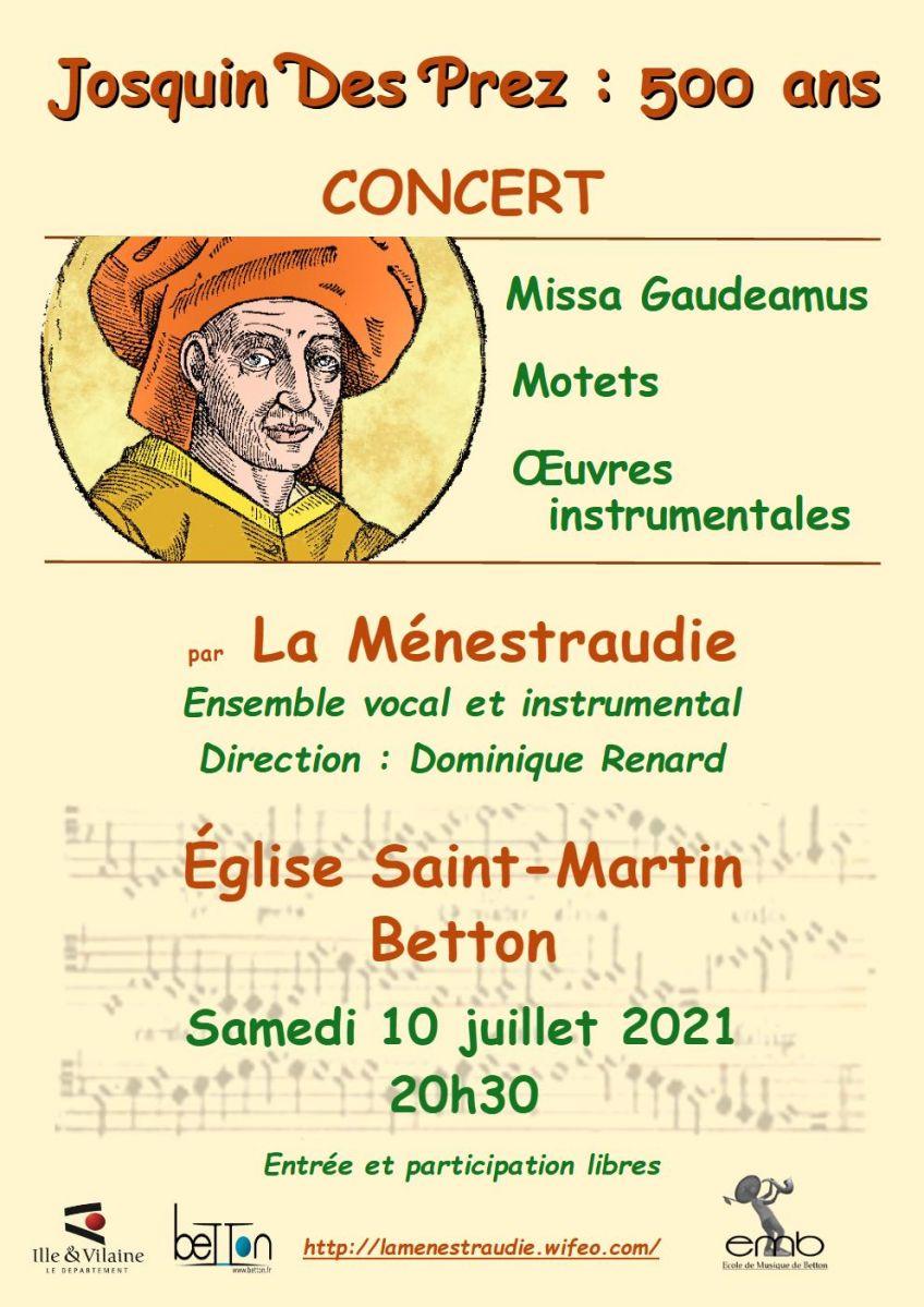 Concert de la Ménestraudie